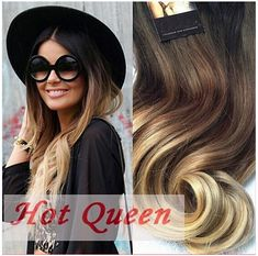 Ombre Clip In Hair Extensions / Natural Human Hair / Malibu Blonde Balayage / Wavy Hair / 10 Piece Clip In Set Blonde Ombre Hair, Ombre Hair Weave, Brown To Blonde, Hair Color Balayage, Wavy Hair, Blonde Balayage, Blonde Ends, Ombre Human Hair Extensions, Tape In Hair Extensions