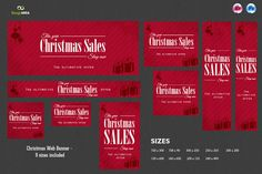 Check out Christmas Web Banners by Imagearea on Creative Market