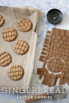 gingerbread lattice cookies - weave the dough! - gingerbread lattice cookies – weave the dough! gingerbread lattice cookies – weave the dough! Ginger Bread Cookies Recipe, Cookie Recipes, Dessert Recipes, Almond Cookies, Dessert Food, Chocolate Cookies, Cupcake Recipes, Dessert Table, Sugar Cookies