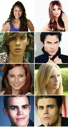 Then & Now-Nina, Ian, Candice & Paul how did Ian and Paul get so fine