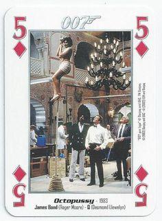 JAMES BOND 007 - SINGLE PLAYING CARD - FILMS 11 - 19 - FIVE OF DIAMONDS