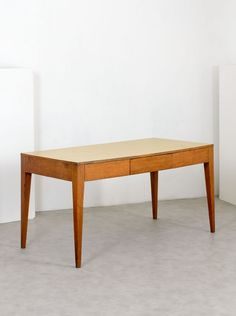 Gio Ponti; Ash and Formica Table, 1940s.