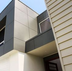 Regram @hitechprojects who have just completed a wonderful new build that contrasts the lines and shadows of Scyon Linea and Matrix perfectly. #australianarchitecture #architecture #exteriordesign #exterior #scyonwalls