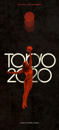 """Tokyo 2020"" retro Olympics by Steve Marchal, via Behance Sport Motivation, Nagano, Retro Design, Layout Design, Tokyo Design, Sports Graphic Design, Sports Graphics, Identity, Asian Design"