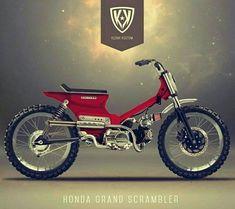 Custom Moped, Custom Bobber, Custom Bikes, Scooter Motorcycle, Moto Bike, Motorcycle Design, Honda Cub, Honda Motorcycles, Custom Motorcycles