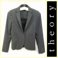 Theory $65 'Nevin B Tailor' gray blazer sz.00 #buynow www.tpopshop.nyc