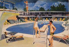 Saatchi Online Artist Stephen Abela; Painting, Pool scene #art