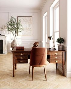 Interior Inspiration, Home, Space Interiors, Marble Fireplaces, Workspace Inspiration, House Interior, Herringbone Floor, Interior Design, Work Office Decor