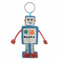 Make Your Own Hanging robot keyring - Kids, boys Crafts Sewing kit Craft Kits For Kids, Crafts For Boys, Sewing For Kids, Felt Bookmark, Make Your Own, Make It Yourself, Blue Crafts, Minerva Crafts, Felt Owls