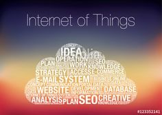 Vecteur : IOT Internet of Things word cloud concept vector illustration