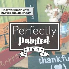 DIY Perfectly Painted Wood Signs. Tutorial by Amanda Wells.