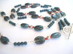 Long Necklace and Earring Set 40 Long Wire by MissBusyBeeJewelry, $65.00
