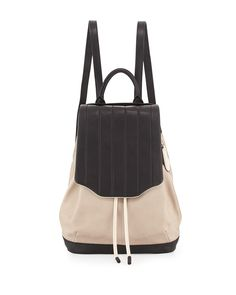 Pilot Two-Tone Backpack, Fawn/Black