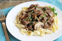 This is an excellent beef burgundy. If memory serves, I dialed back the onion, poured in a little extra splash of wine, and added a little extra mushroom.