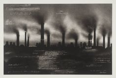 andmymouthisanhourglassofblood:  Tacita Dean    Beautiful Sheffield  From The Russian Ending  2001   Photo-etching on paper