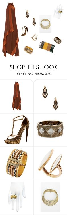 """Untitled #199"" by joshua-d-tyson ❤ liked on Polyvore featuring Donna Karan, GUESS by Marciano, Alexander McQueen, Sole Society, Robert Rose, Lucky Brand, HEATHER BENJAMIN and ISLO"
