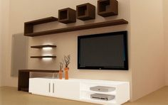 Home Decorating Style 2019 for Easy Living Room Wall Cabinet Design Ideas Interior Decor Home, you can see Easy Living Room Wall Cabinet Design Ideas Interior Decor Home and more pictures for Home Interior Designing 2019 at Home Design Ideas Modern Tv Wall Units, Tv Wall Design, Tv Unit Furniture Design, Cabinet Design, Living Design, Furniture Design, Wall Unit, Tv Showcase Design, Living Room Tv