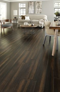 Rich coffee hues, sleek design, subtle distressing. Hand-painted Morning Star Vintage Java Bamboo offers a captivating backdrop for your home that's both bold & refined.