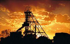 Sunset over Kalgoorlie mines