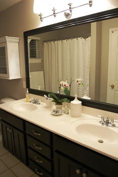 I Got An Email Today From A Reader Asking How I Did The Frame Around My · Bathroom  Mirror ...