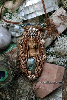 Wiccan Jewelry, Spiritual Jewelry, Fantasy Jewelry, Bohemian Jewelry, Bohemian Girls, Boho Girl, Polymer Clay Art, Polymer Clay Jewelry, Gypsy Chic