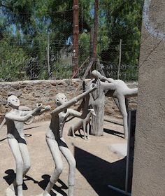 "The small hamlet of Nieu Bethesda is sometimes called "" the village left behind in time. Owl House, Africa Travel, Travel Guide, South Africa, Garden Sculpture, Parks, Gardens, Lady, Outdoor Decor"