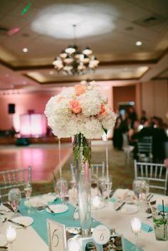 Wedding floral centerpiece -  Bluespark Photography
