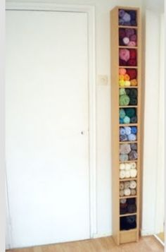 CD shelf (I have one in the garage!) as yarn storage!!