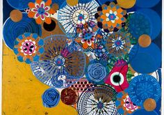 """Chora, menino"", 1996 Acrylic on canvas, 72 x 75 inches Colección Patricia Phelips de Cisneros, Caracas and New York © Beatriz Milhazes"