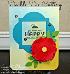Get Crafty with Lisa: What's Hot Wednesdays: Double Die Cutting