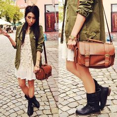 Military boots (by Pam S) http://lookbook.nu/look/3989700-military-boots