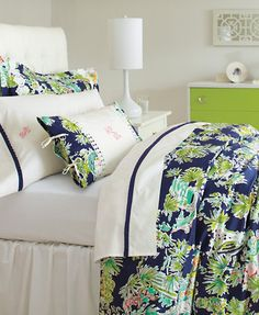 lilly pulitzer sister florals comforter cover jungle glam navy exclusively for garnet hill