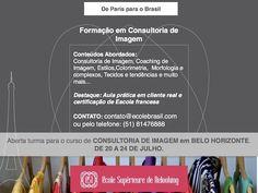 Ecole Supérieure de Relooking - Últimas vagas para o curso de Formação em Consultoria de Imagem em Belo Horizonte