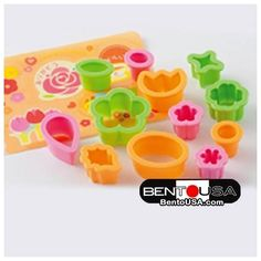 Japanese Bento Decoration Ham Cheese Cutter Set with Baran Sandwich Cutters, Japanese Bento Box, Value Set, Cute Bento, Bento Recipes, Baking Supplies, Different Flowers, Ham And Cheese, Flower Shape