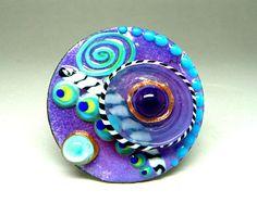 Interchangeable Topper Set, Glass and Enamel, Art Jewelry, by BeaStoertz