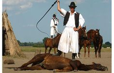 A traditional Hungarian horseman performs in a horse show on the Great Hungarian Plains, or Puszta, in Bugac. My Grandma actually got to see a show like this :) Hungarian Dog, Heart Of Europe, Danube River, Exotic Places, Medieval Castle, Central Europe, Travelogue, Show Horses, Budapest