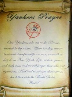 Yankee Prayer  :o)