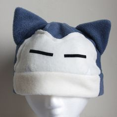 Snorlax Pokemon Fleece Hat Anime Manga Cosplay Rave by AthenasWink, $25.00