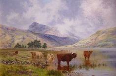 Cattle in the Highlands Throughout The World, Cattle, Impressionist, Animals And Pets, Fine Art, Landscape, Highlands, The Originals, Gallery