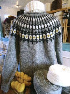 Ravelry: Eining pattern by Margrét Jónsdóttir Knitting Designs, Knitting Patterns, Icelandic Sweaters, Nordic Sweater, Knit Art, Fair Isle Pattern, Mittens Pattern, Ravelry, Free Pattern