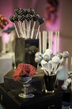 Glittered Chevron Cake Pops by Sweet Lauren Cakes, via Flickr