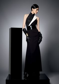 Womens Portfolio - Black silk dress By Shanghai Tang
