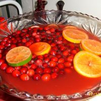 Sangria Punch. Whether you serve it alcoholic or not-either way it's fruity and fabulous.