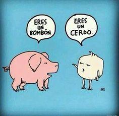 Bombon y cerdo!!