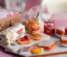 Miniature Peanut Butter and Jelly Sandwich Set by CuteinMiniature