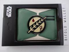 Star Wars Boba Fett Gift Boxed Bifold Wallet NWT #StarWars #FrontPocketWallet