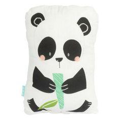 Coussin Panda Garden  blanc et noir  40 x 30 cm