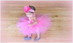 Pink tutu baby dress Baby girl tutu Just for by Justforfuntutu