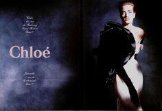 #vintage Tatjana Patitz photographed by Phillip Dixon for Chloe spring 1991