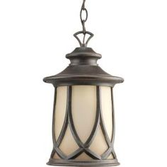 Front  Porch - Progress Lighting Resort Collection 1-Light Outdoor Aged Copper Hanging Lantern